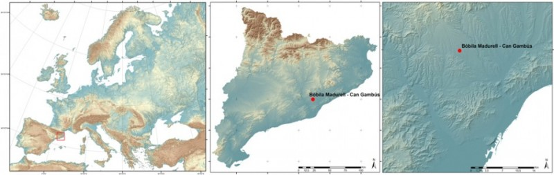 Figure 1. Location of the Bòbila Madurell-Can Gambús site within the north-eastern Iberian Peninsula.