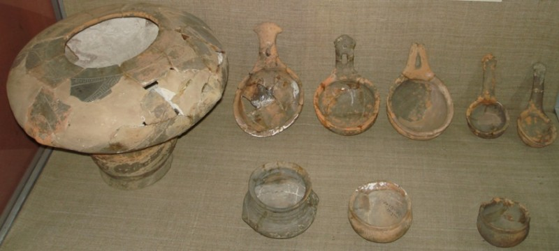 Figure 2. Pottery of the Trypillian culture from Passek's excavation. Dated to 3600 BC.