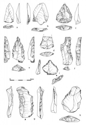 Figure 3. Selected chert tools from the lithic assemblage of Affad-23.